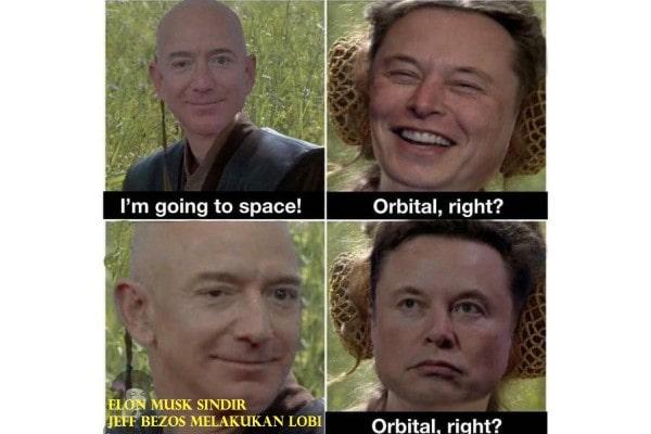 Elon Musk sindir Jeff Bezos Sering Melakukan Lobi